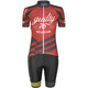 guilty 76 racing Velo Club Pro Race Kleding set Dames rood